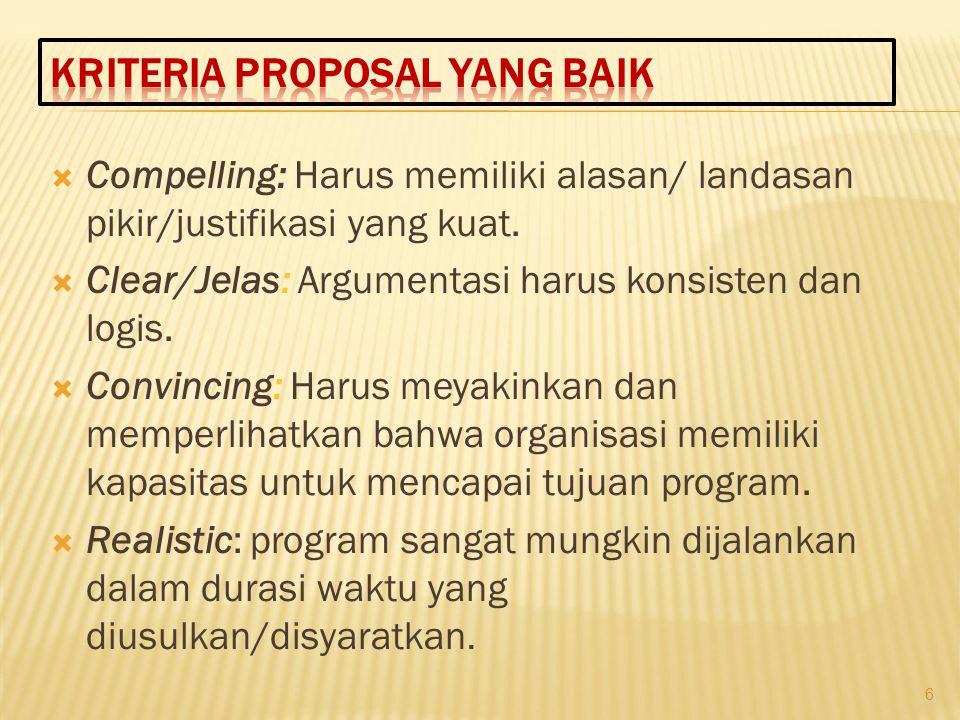 a) Nama Program :  Menjelaskan nama program sebagai judul dari proposal yang diajukan  Buat yang menarik b) Lokasi Program:  Menjelaskan dimana lokasi program dilaksanakan 17