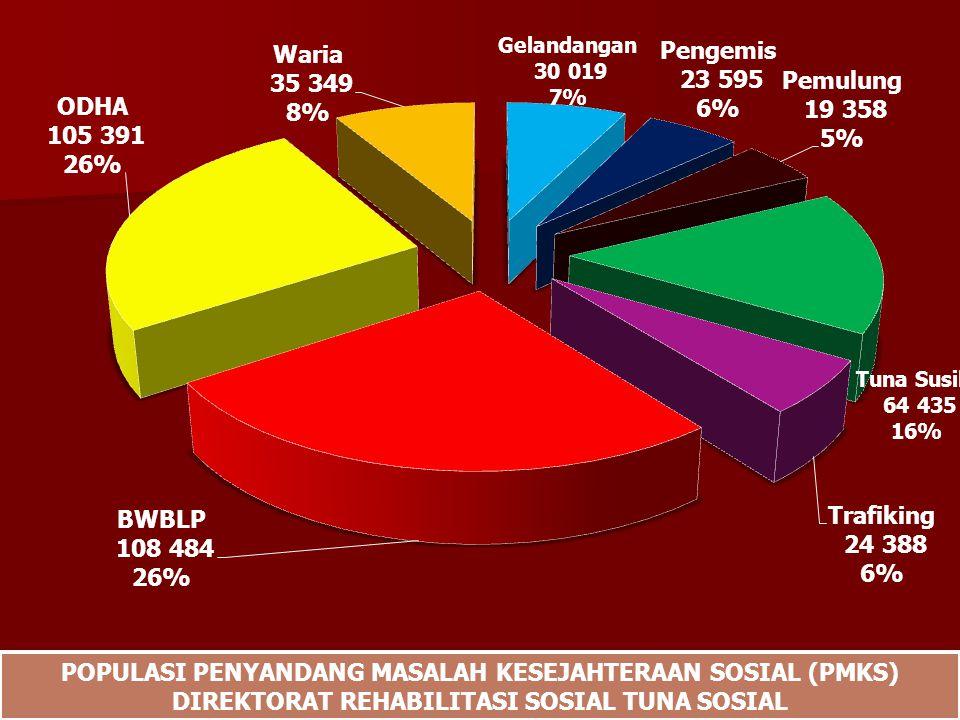 POPULASI PENYANDANG MASALAH KESEJAHTERAAN SOSIAL (PMKS) DIREKTORAT REHABILITASI SOSIAL TUNA SOSIAL POPULASI PENYANDANG MASALAH KESEJAHTERAAN SOSIAL (PMKS) DIREKTORAT REHABILITASI SOSIAL TUNA SOSIAL