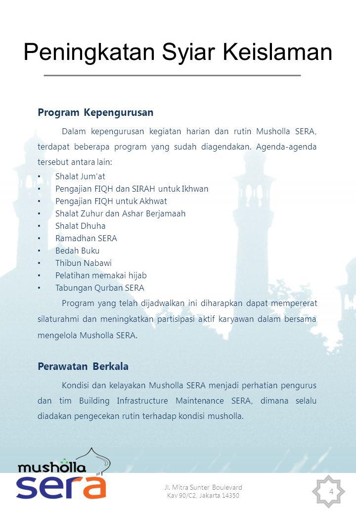 Jl. Mitra Sunter Boulevard Kav 90/C2, Jakarta 14350 4 Peningkatan Syiar Keislaman Program Kepengurusan Dalam kepengurusan kegiatan harian dan rutin Mu