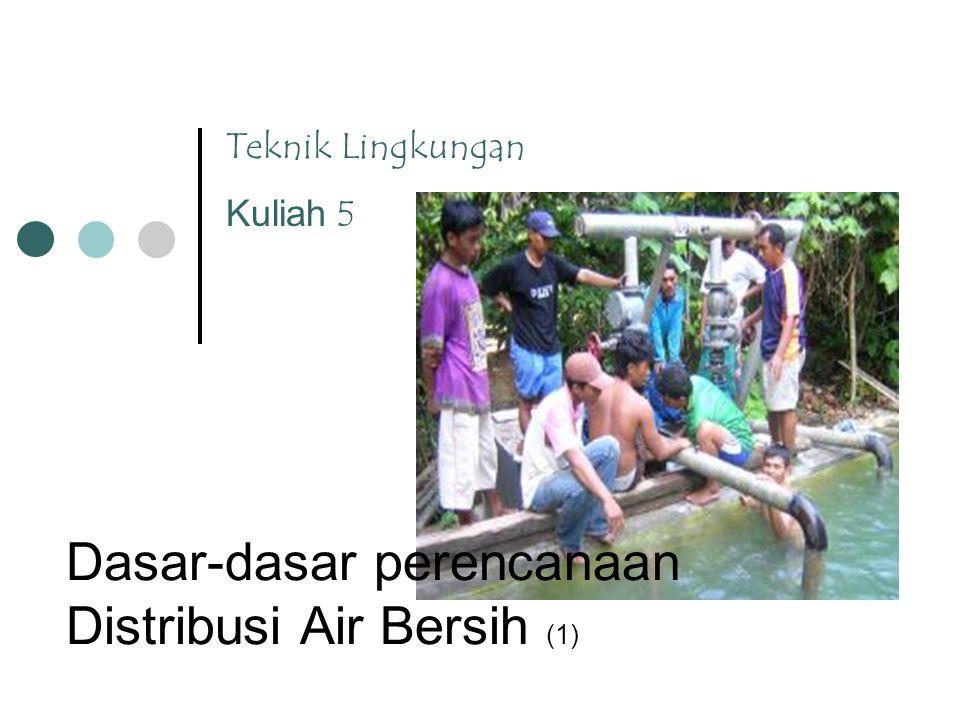 Teknik Lingkungan Kuliah 5 Dasar-dasar perencanaan Distribusi Air Bersih (1)