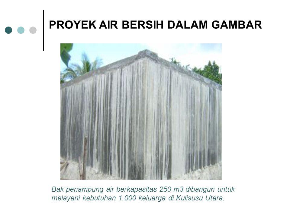 Bak penampung air berkapasitas 250 m3 dibangun untuk melayani kebutuhan 1.000 keluarga di Kulisusu Utara.