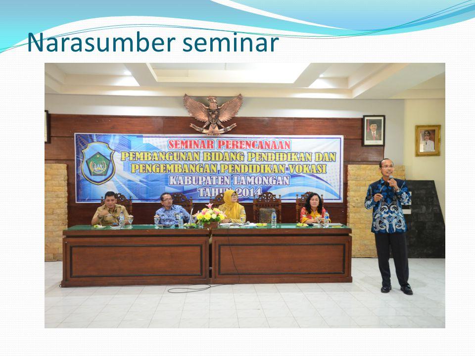 Narasumber seminar