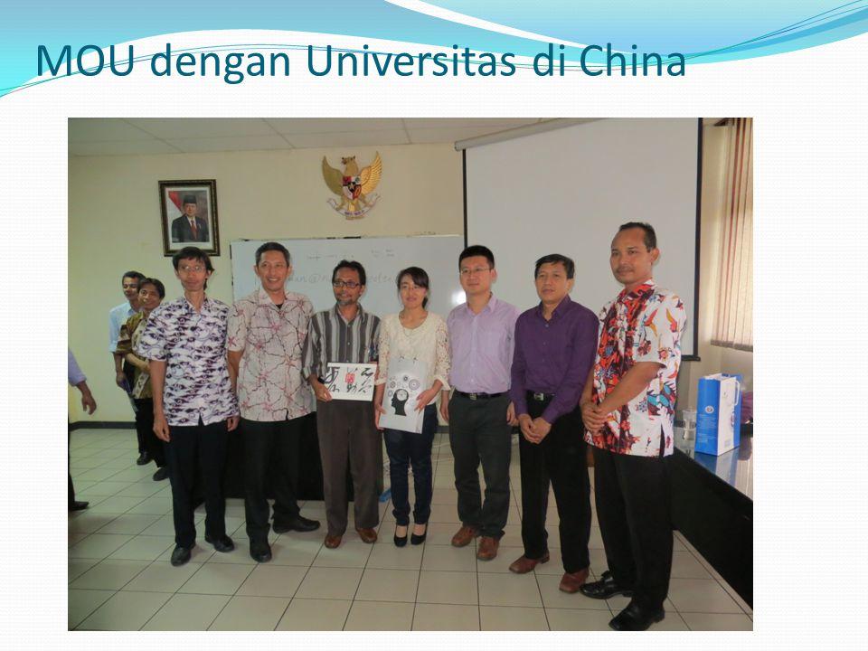 MOU dengan Universitas di China