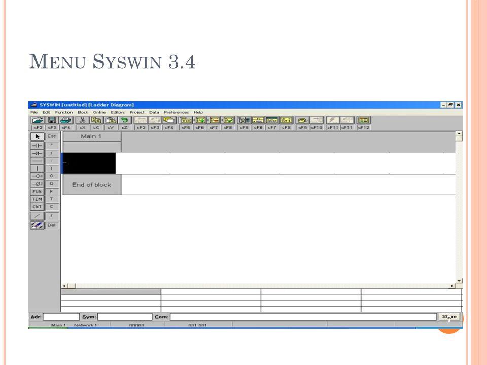 M ENU S YSWIN 3.4 7
