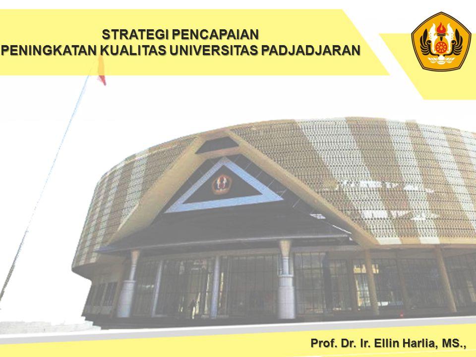 STRATEGI PENCAPAIAN PENINGKATAN KUALITAS UNIVERSITAS PADJADJARAN Prof. Dr. Ir. Ellin Harlia, MS.,