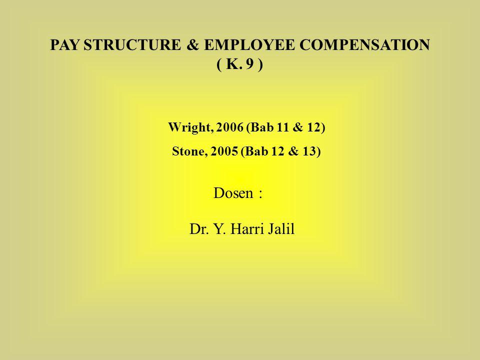 Tujuan Pembelajaran :  Mendaftar bidang-bidang keputusan utama dan konsep-konsep dalam manajemen kompensasi karyawan.