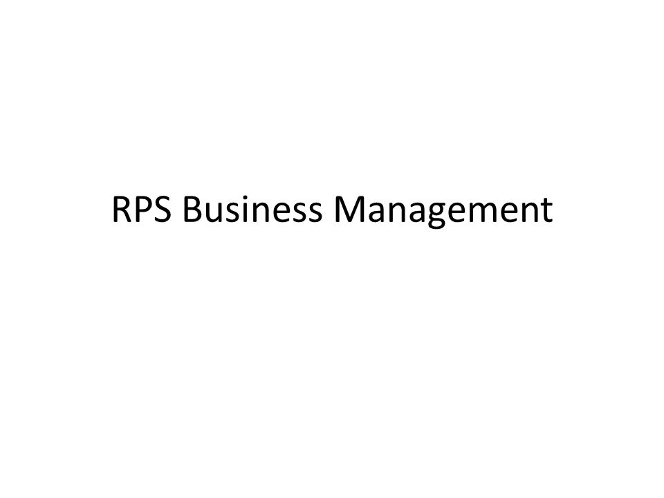 RPS Business Management