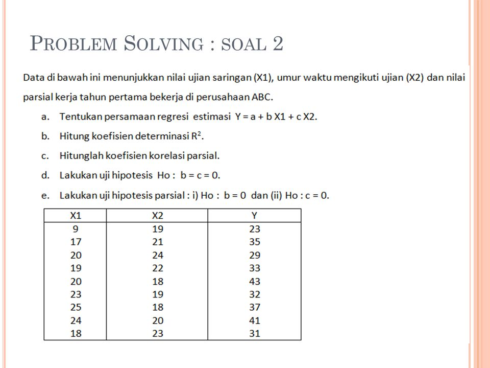 P ROBLEM S OLVING : SOAL 2