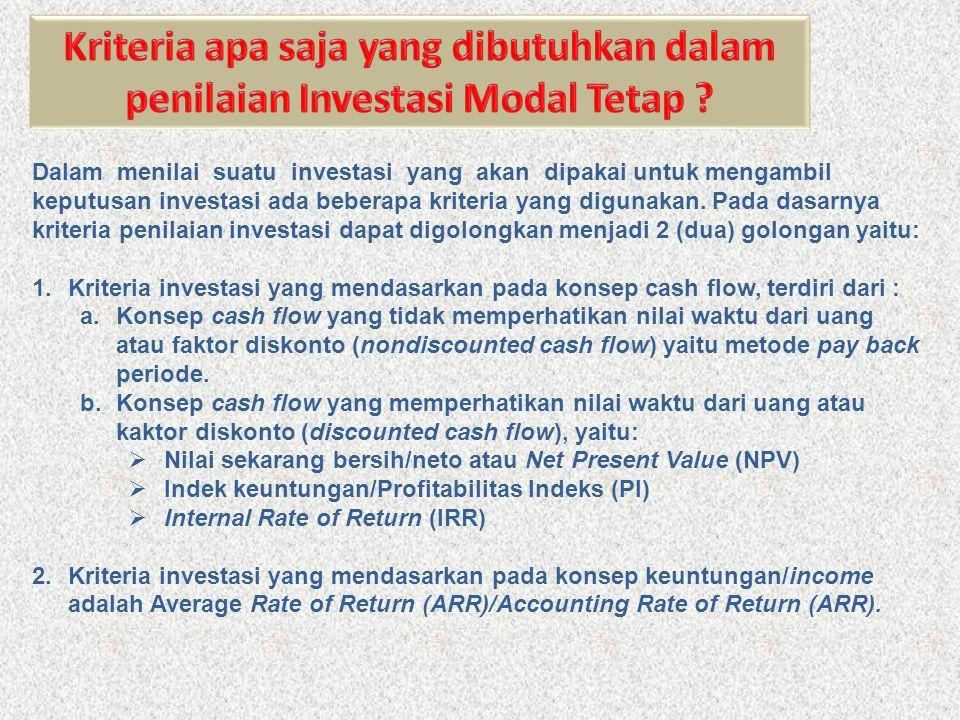 Payback Periode merupakan periode yang dibutuhkan supaya mampu menutup kembali pengeluaran investasi dengan memanfaatkan aliran kas neto (net cash flow) atau proceed.