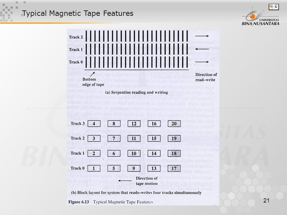 21 Typical Magnetic Tape Features