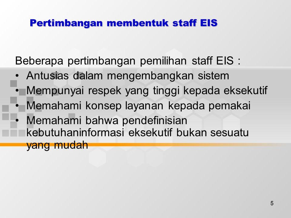 6 Tugas staff EIS (Tahap : Pengembangan)