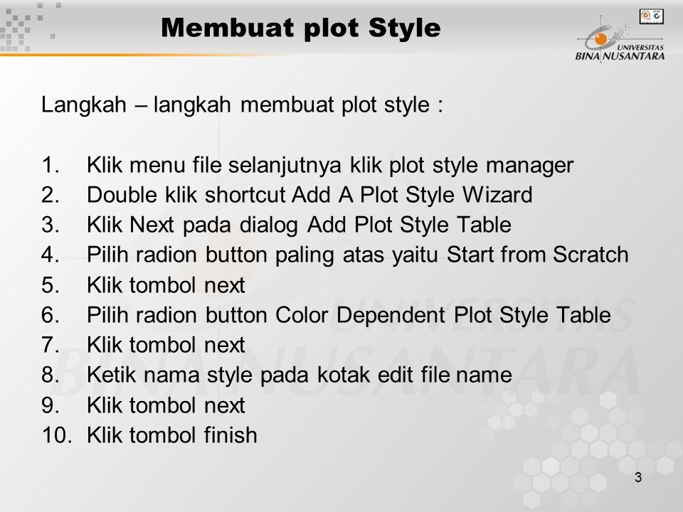 4 Membuat plot Style