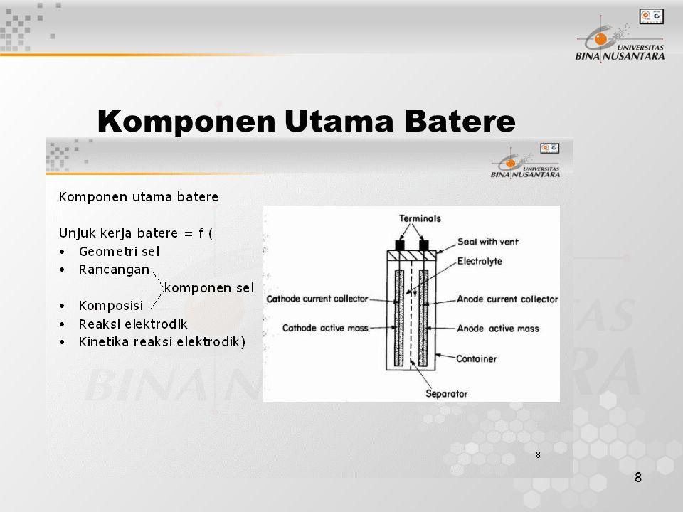 8 Komponen Utama Batere