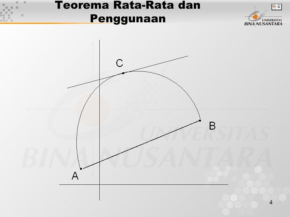 4 Teorema Rata-Rata dan Penggunaan
