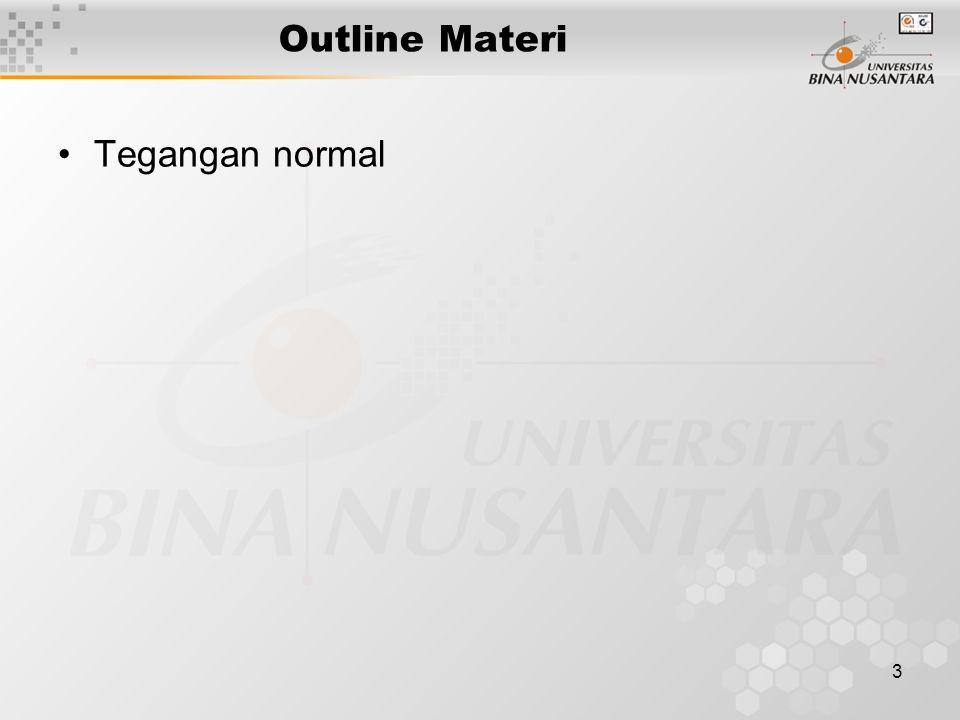 3 Outline Materi Tegangan normal