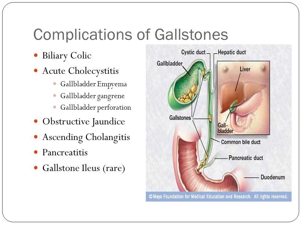 Biliary Colic Acute Cholecystitis Gallbladder Empyema Gallbladder gangrene Gallbladder perforation Obstructive Jaundice Ascending Cholangitis Pancreat
