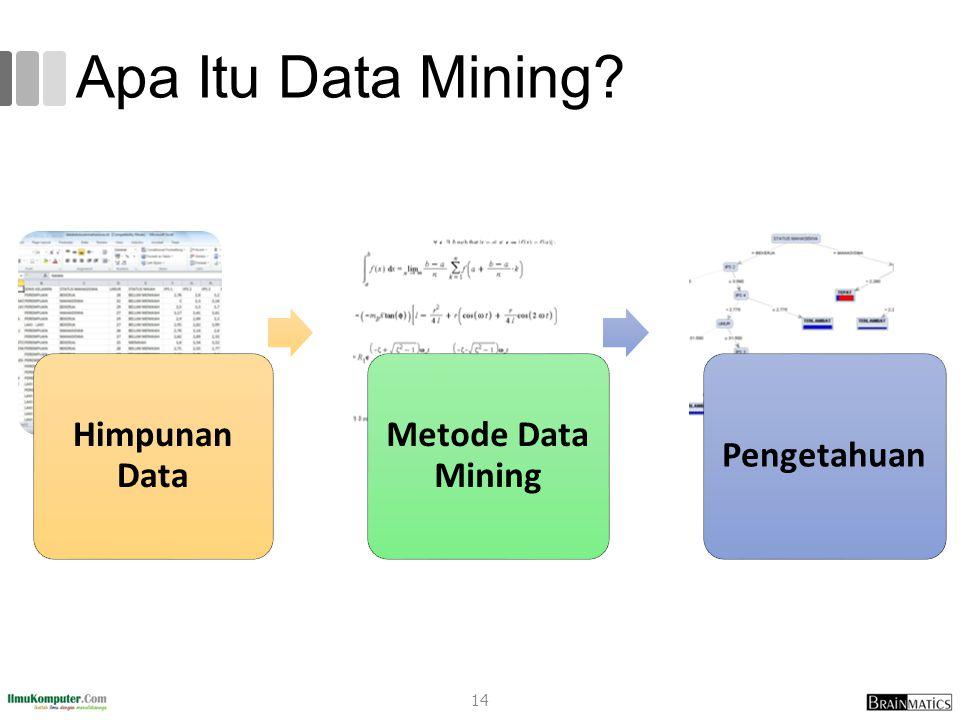 Apa Itu Data Mining? Himpunan Data Metode Data Mining Pengetahuan 14