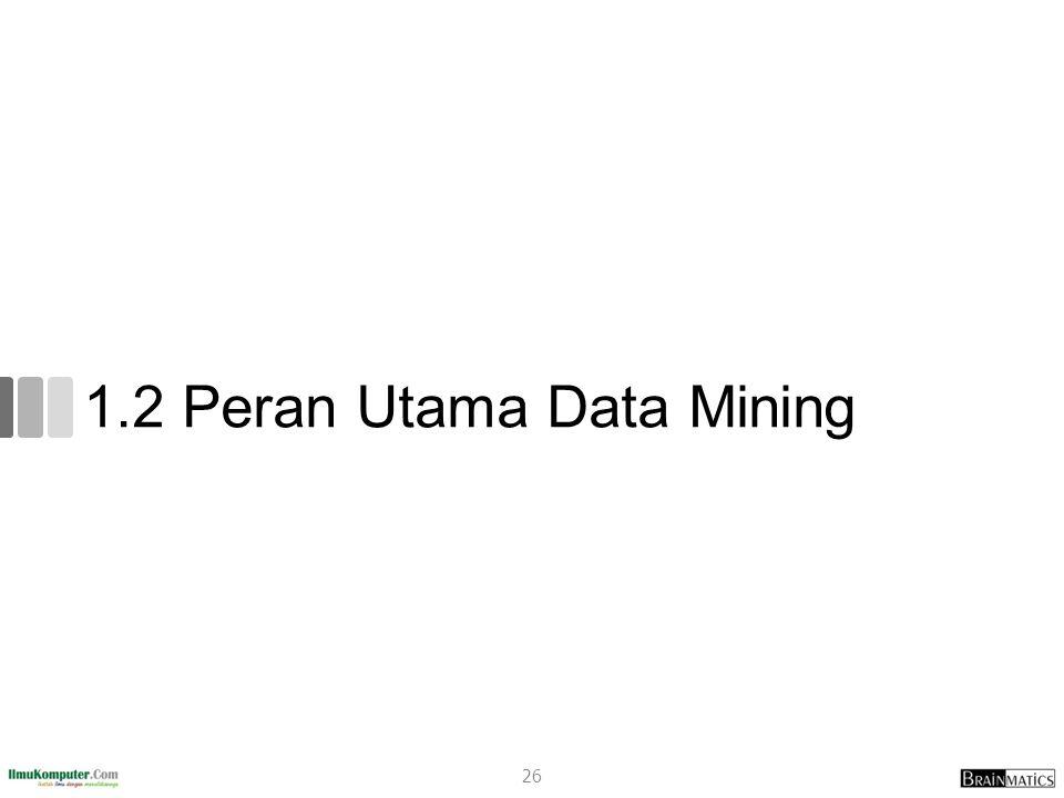 1.2 Peran Utama Data Mining 26