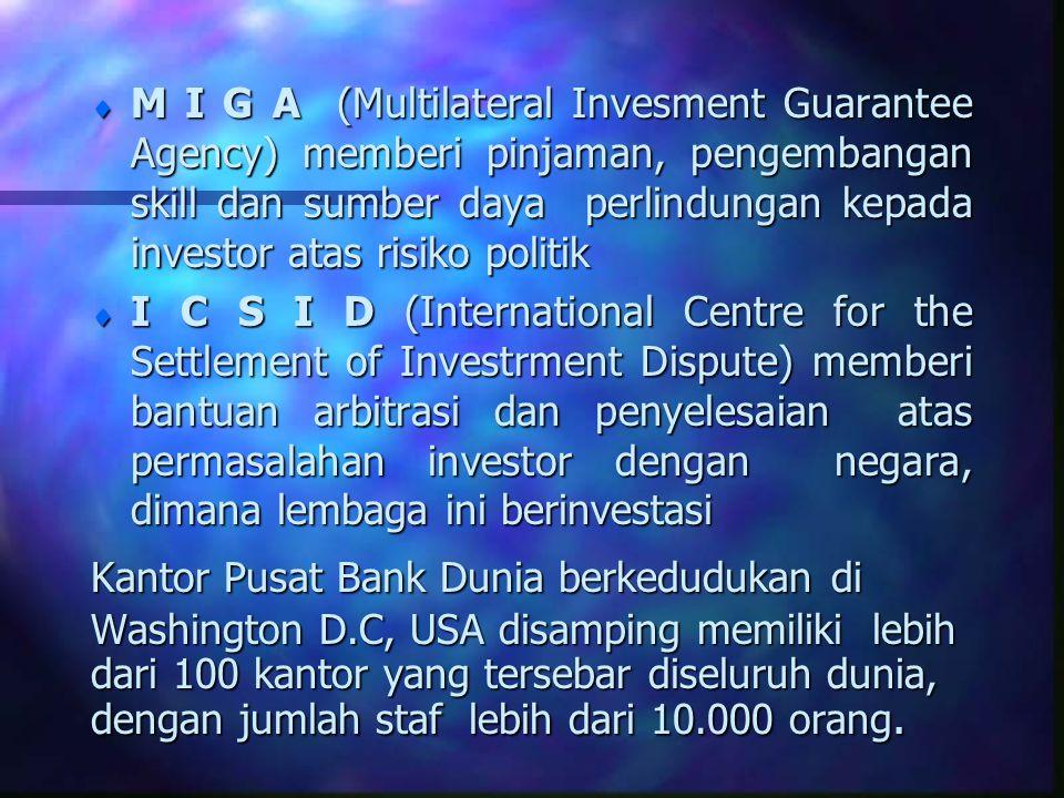 INTERNATIONAL MONETARY FUND (IMF) Latar Belakang Pendirian : n Terbentuk I.M.F merupakan hasil Bretton Woods Agreement secara resmi pada tgl.