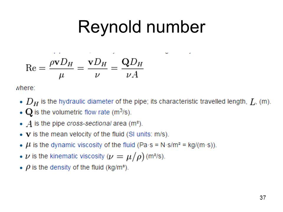 Reynold number 37