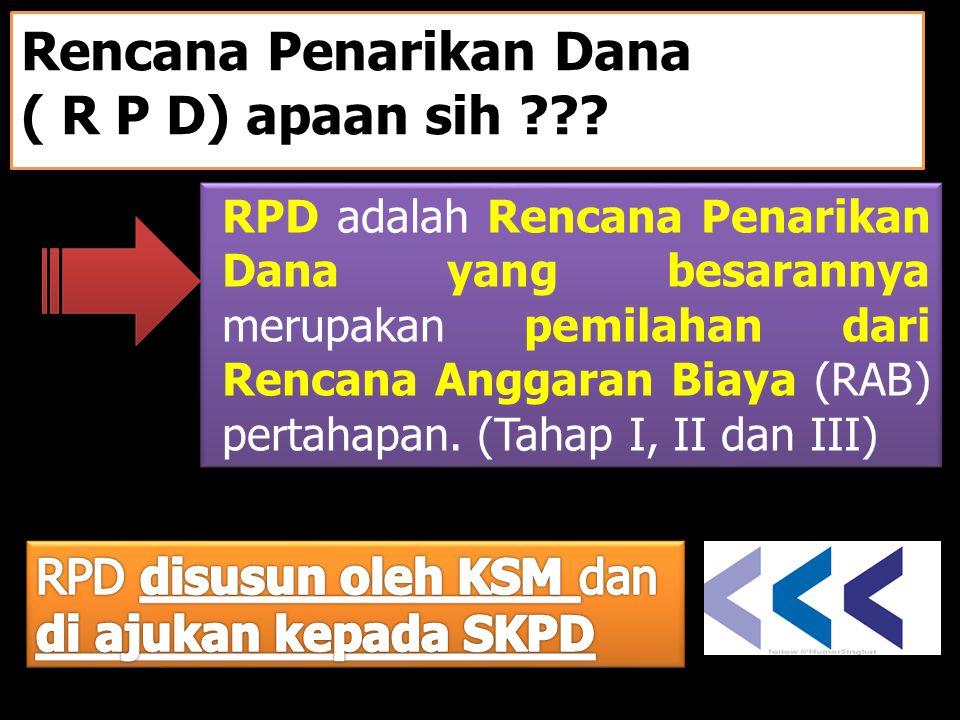 Rencana Penarikan Dana ( R P D) apaan sih ??.