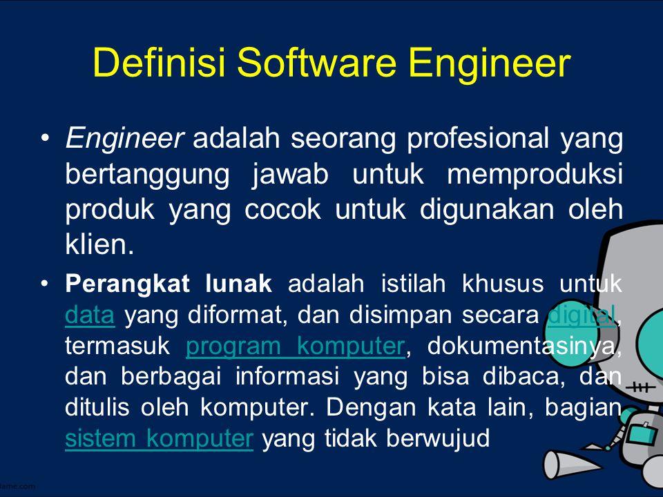 Rekayasa Perangkat Lunak Pengubahan perangkat lunak guna mengembangkan, memelihara, dan membangun kembali dengan menggunakan prinsip rekayasa untuk menghasilkan perangkat lunak yang dapat bekerja lebih efisien dan efektif untuk pengguna