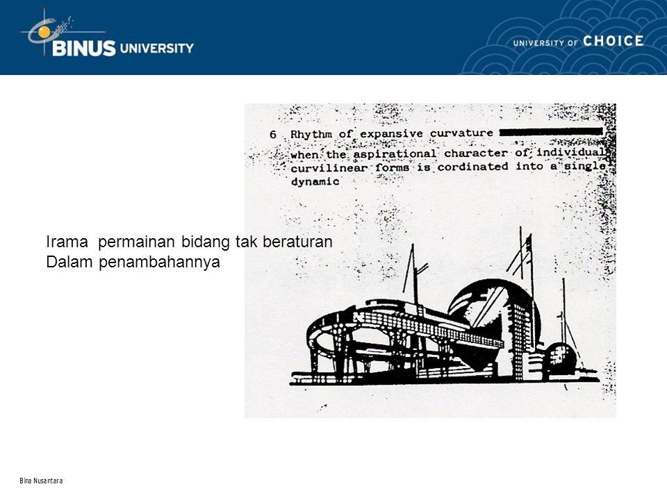 Bina Nusantara 3 Irama permainan bidang tak beraturan Dalam penambahannya