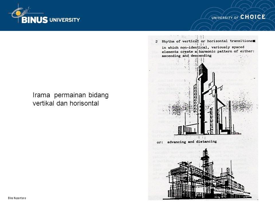 Bina Nusantara 3 Irama permainan bidang vertikal dan horisontal