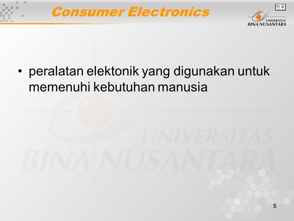 5 Consumer Electronics peralatan elektonik yang digunakan untuk memenuhi kebutuhan manusia