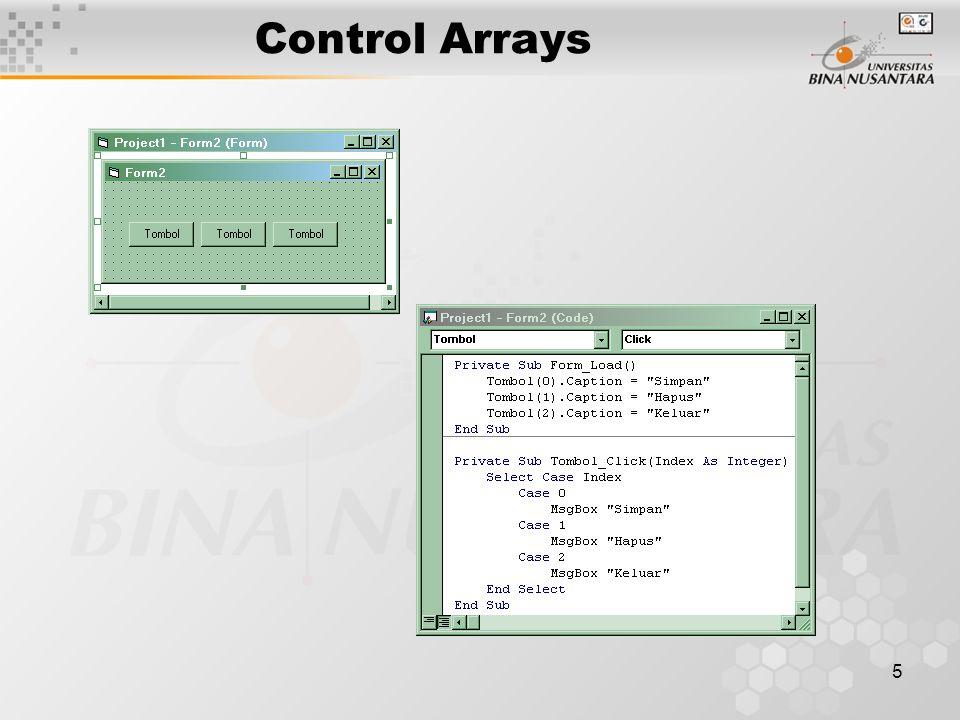 5 Control Arrays