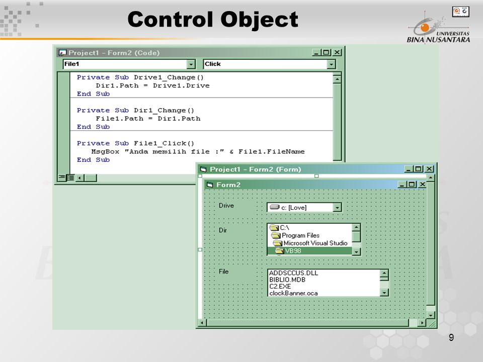 9 Control Object