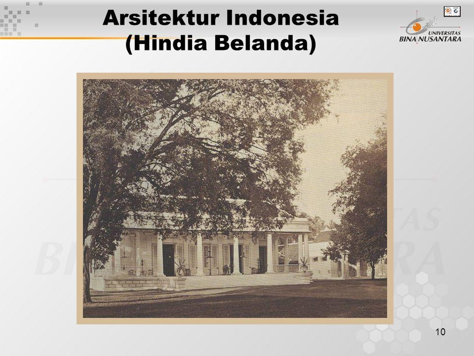 10 Arsitektur Indonesia (Hindia Belanda)