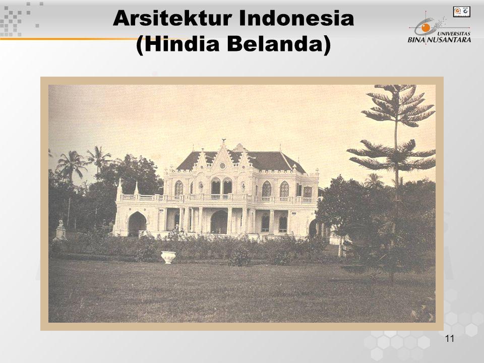 11 Arsitektur Indonesia (Hindia Belanda)