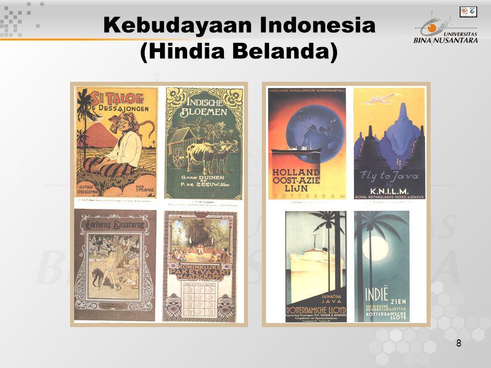 9 Arsitektur Indonesia (Hindia Belanda) Arsitektur pada zaman Indies banyak mengadaptasi bangunan dari Eropa namun disesuaikan dengan keadaan Indonesia yang tingkat kelembapannya tinggi serta udara yang sangat panas.