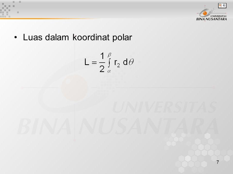 7 Luas dalam koordinat polar