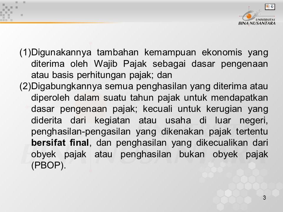 14 Pemilik toko Setia Kawan (Wajib Pajak-Orang Pribadi dalam negeri) adalah salah satu agen penjualan obat-obatan hasil produksi PT Jogya Pharma.