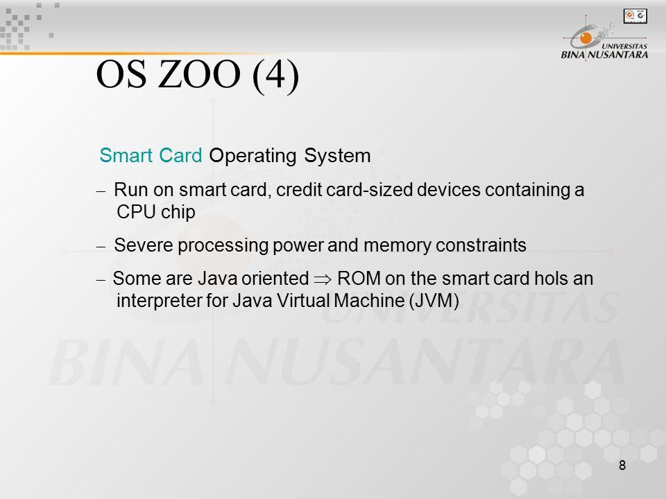 19 I/O dapat dilakukan dengan 3 cara: –Busy waiting –Interrupt –DMA (Direct Memory Access)