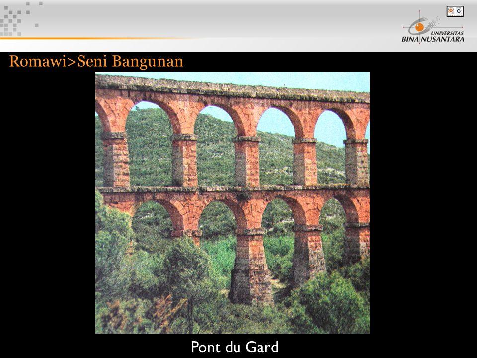 9 Romawi>Seni Bangunan Pont du Gard