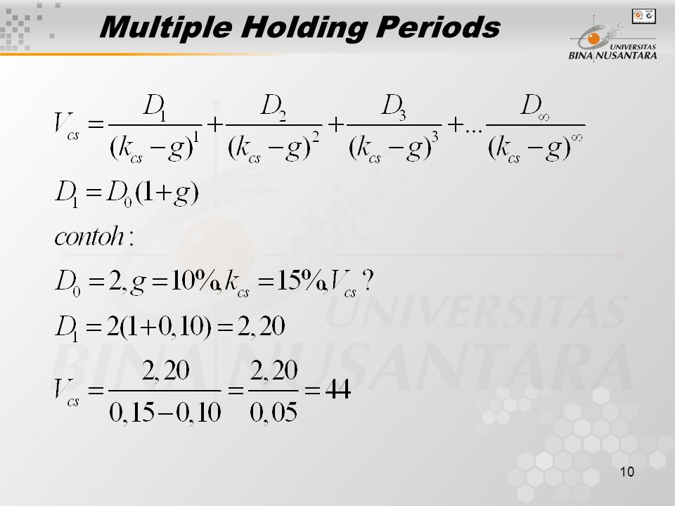 10 Multiple Holding Periods