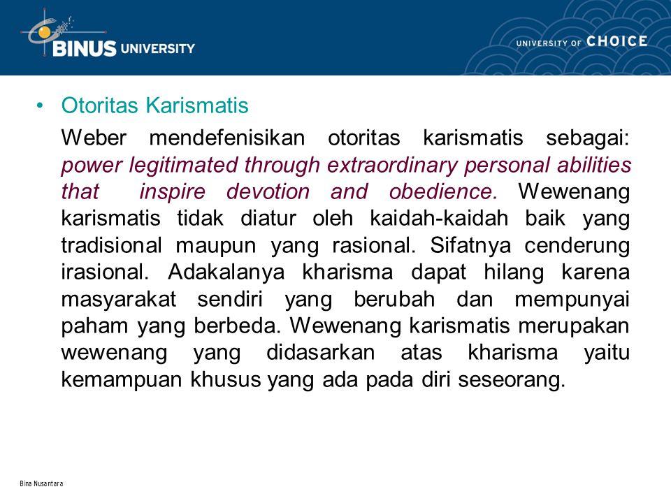 Bina Nusantara 2.2.Wewenang Resmi dan Tidak Resmi 2.2.1.