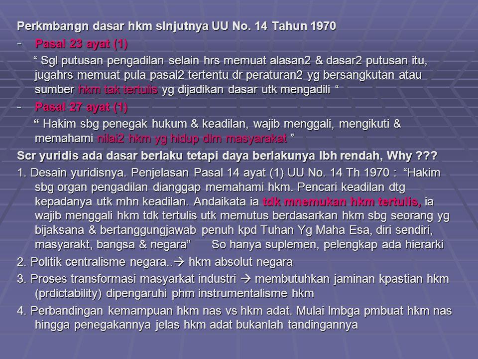 Perkmbangn dasar hkm slnjutnya UU No.