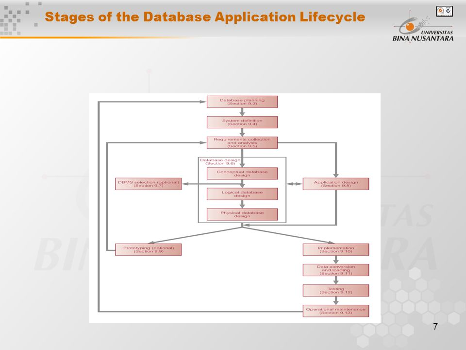 7 Stages of the Database Application Lifecycle