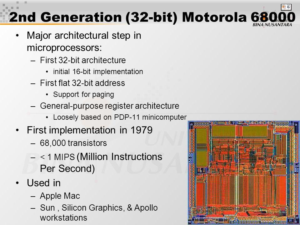 6 Motorola 680x0 Family Keluaran Motorola family M68000 adalah salah satu dari keluarga mikroprosesor yang paling banyak digunakan di dalam komputer Apple seri Machintosh dan SUN workstation.