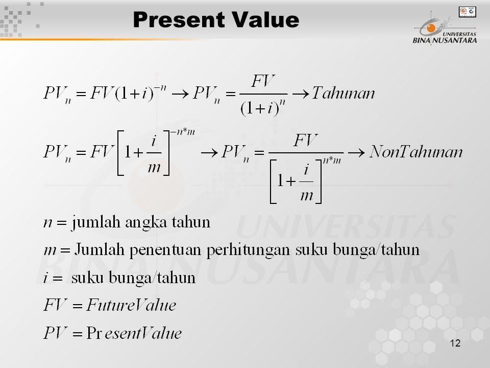 12 Present Value