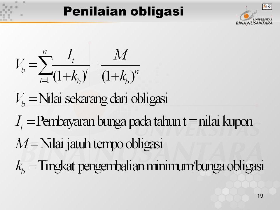 19 Penilaian obligasi