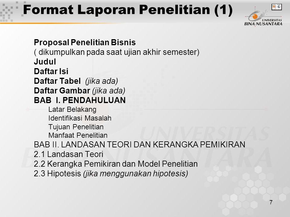 8 Format Laporan Penelitian (2) BAB III.