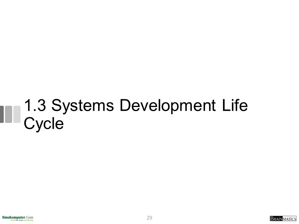 1.3 Systems Development Life Cycle 29
