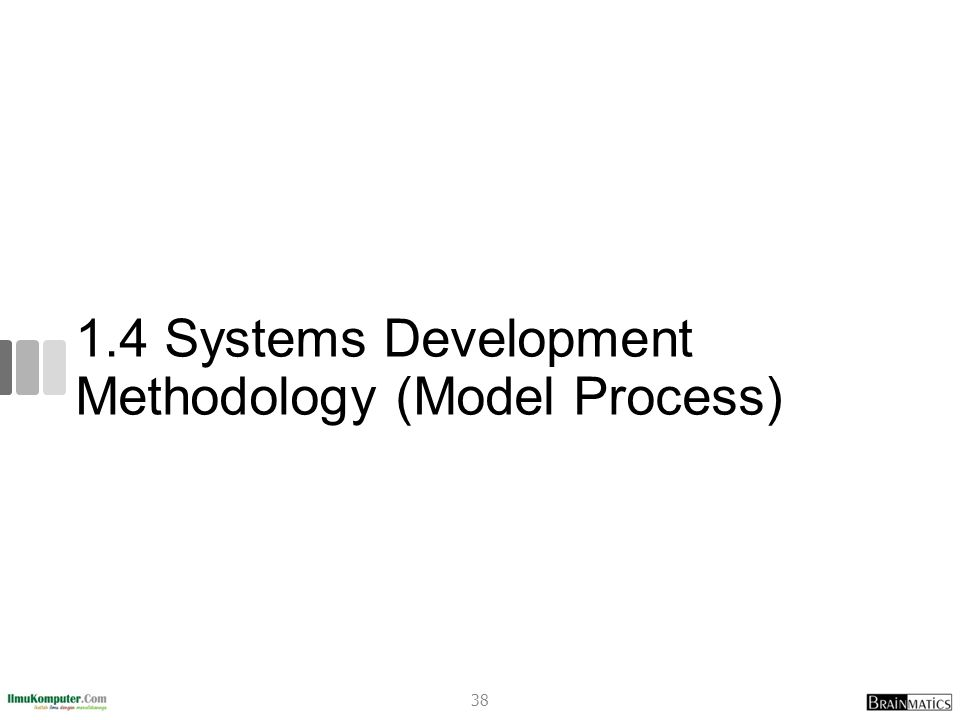 1.4 Systems Development Methodology (Model Process) 38