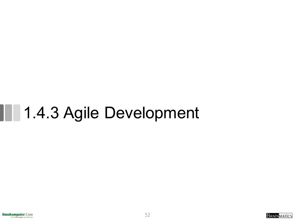 1.4.3 Agile Development 52
