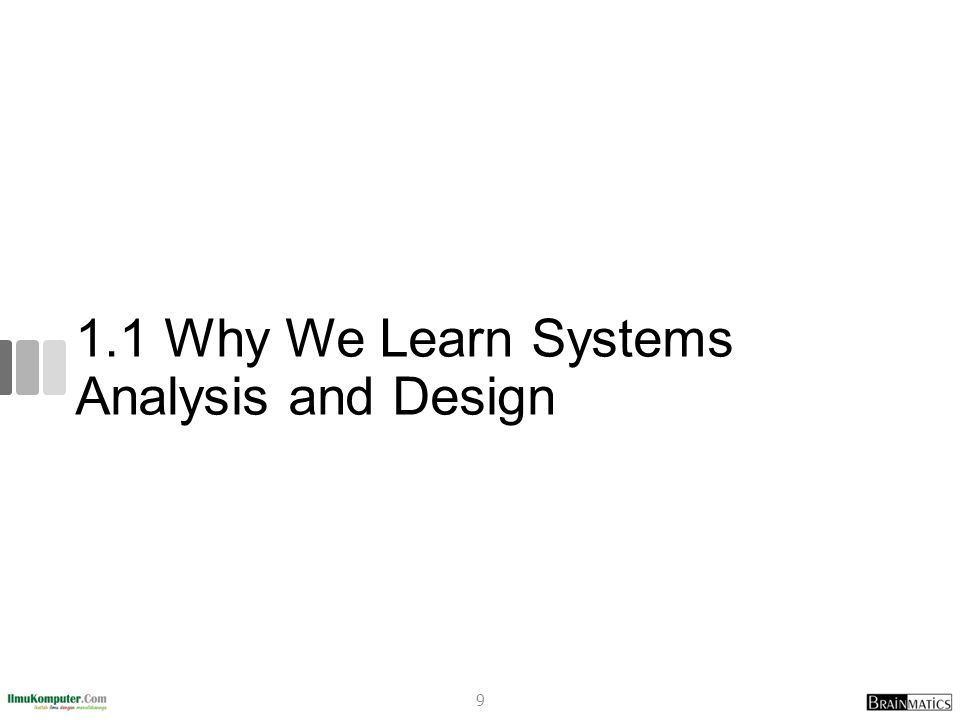 Systems Development Projects Fail More than half of all systems development projects Fail (42% - Standish Group, 53% - General Accounting Office) Canceled before completion System is never used once finished Doesn t provide the expected benefits Most of the ones that don t fail: Are delivered late Are over budget Don t provide the features promised 10